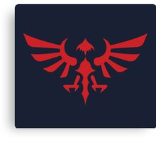 Hylian Crest (red) Canvas Print