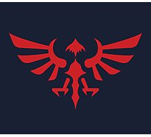 Hylian Crest (red) Photographic Print