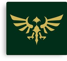 Hylian Crest (gold) Canvas Print