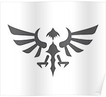 Hylian Crest (gray) Poster