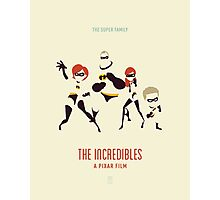 The Incredibles: The Super Family (Vintage) Photographic Print