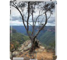 Gum tree at  Burramoki Headland overlooking Grose Valley Australia landscape iPad Case/Skin