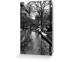 River Walk Morning Greeting Card