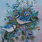 Blue Jays by Irene Clarke