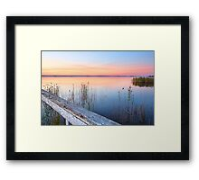 Stunning sunset at Long Jetty NSW Australia seascape Framed Print