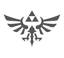 The Legend of Zelda Royal Crest (gray) Photographic Print