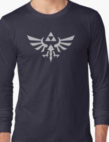 The Legend of Zelda Royal Crest (silver) Long Sleeve T-Shirt