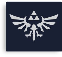 The Legend of Zelda Royal Crest (silver) Canvas Print