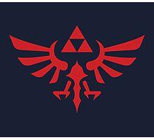 The Legend of Zelda Royal Crest (red) Photographic Print