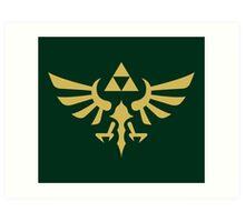 The Legend of Zelda Royal Crest (gold) Art Print