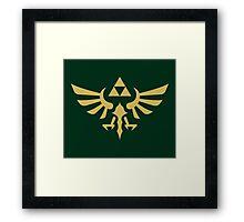 The Legend of Zelda Royal Crest (gold) Framed Print