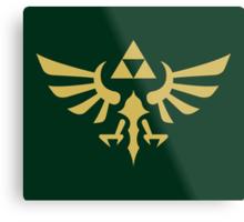 The Legend of Zelda Royal Crest (gold) Metal Print