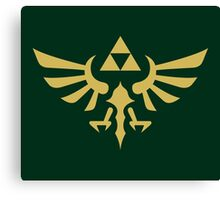 The Legend of Zelda Royal Crest (gold) Canvas Print