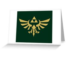 The Legend of Zelda Royal Crest (gold) Greeting Card