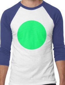 green circle Men's Baseball ¾ T-Shirt