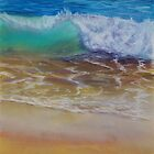Wave at the shore by Amy Barnett
