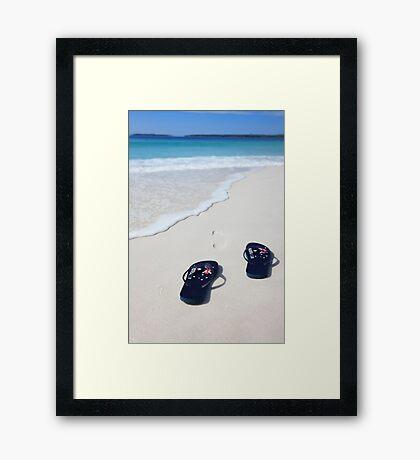 Australian flag thongs beach vacation celebration patriotic  Framed Print