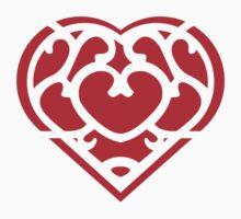 Zelda Skyward Sword Heart (red) Kids Tee