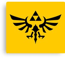 The Legend of Zelda Royal Crest (black) Canvas Print