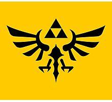 The Legend of Zelda Royal Crest (black) Photographic Print