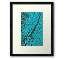 Turquoise stone Framed Print