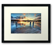 Point Frederick Gosford Australia sunset  seascape Framed Print