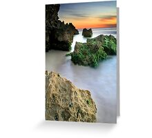 Trig Beach Sunset  Greeting Card