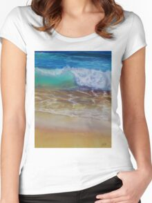 Wave at the shore Women's Fitted Scoop T-Shirt