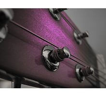 Pink Guitar Photographic Print