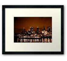 city on fire... Framed Print