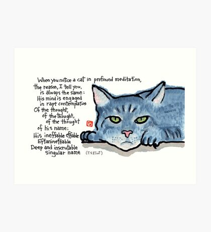 The Naming of Cats (Eliot's Cats Series) Art Print