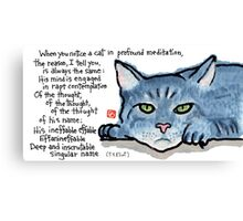 The Naming of Cats (Eliot's Cats Series) Canvas Print