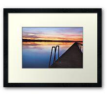 Long Jetty Central Coast sunset colours Tuggerah Lakes seascape Framed Print