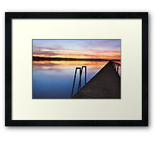 Long Jetty Central Coast sunset colours Tuggerah Lakes seascape Framed Print