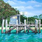 Currawong Beach Wharf by Sarina Tomchin