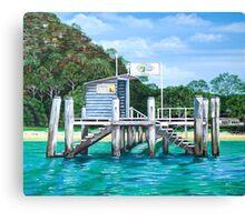 Currawong Beach Wharf Canvas Print
