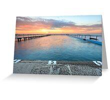 Sunrise Swim North Narrabeen Australia seascape Greeting Card