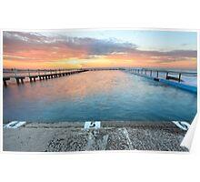 Sunrise Swim North Narrabeen Australia seascape Poster