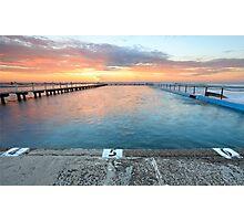Sunrise Swim North Narrabeen Australia seascape Photographic Print