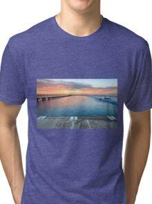 Sunrise Swim North Narrabeen Australia seascape Tri-blend T-Shirt