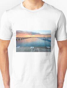 Sunrise Swim North Narrabeen Australia seascape T-Shirt