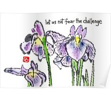 The Japanese Iris Poster