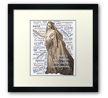Wise Words Framed Print