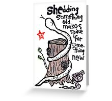 The Year of the Snake (#4) Greeting Card