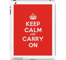 Keep Calm And Carry On Poster iPad Case/Skin