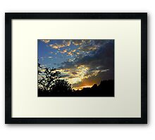 Storm is coming (?) Framed Print