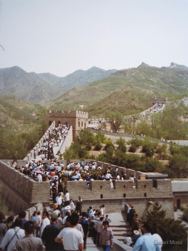 The Great Wall of China May 1981 by Susan Moss