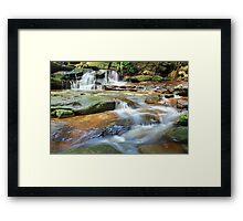Waterfalls and little stream Australia landscape Framed Print