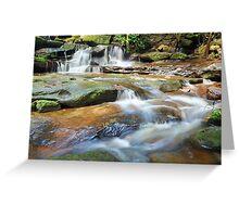Waterfalls and little stream Australia landscape Greeting Card