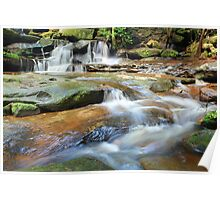 Waterfalls and little stream Australia landscape Poster